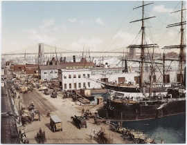 South Street Seaport was one of the most important maritime hubs of New York.