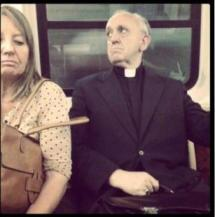 The new Pope Francesco, in metro.