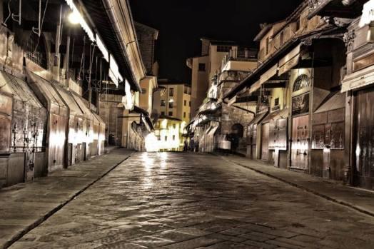 Ponte Vecchio i negozi