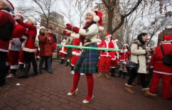 Holiday Revelers Hit New York City Streets Dressed As Santas