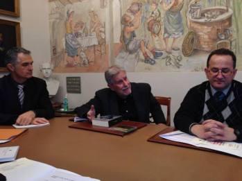 Ennio Clari, pianista, Cesare Orselli, musicologo e Fabrizio Sestini, coordinatore Misericordia di Empoli