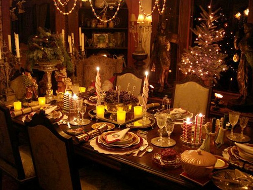 Christmas Table Decoration 02 - Best Interior Design and Home Decor ...