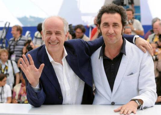 Italian actor Toni Servillo (L) and Ital