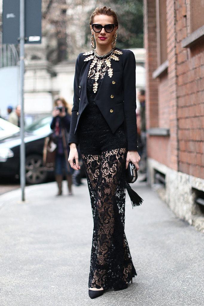 Milan Fashion Week Street Style Fall 2013 Kathy Kiefer