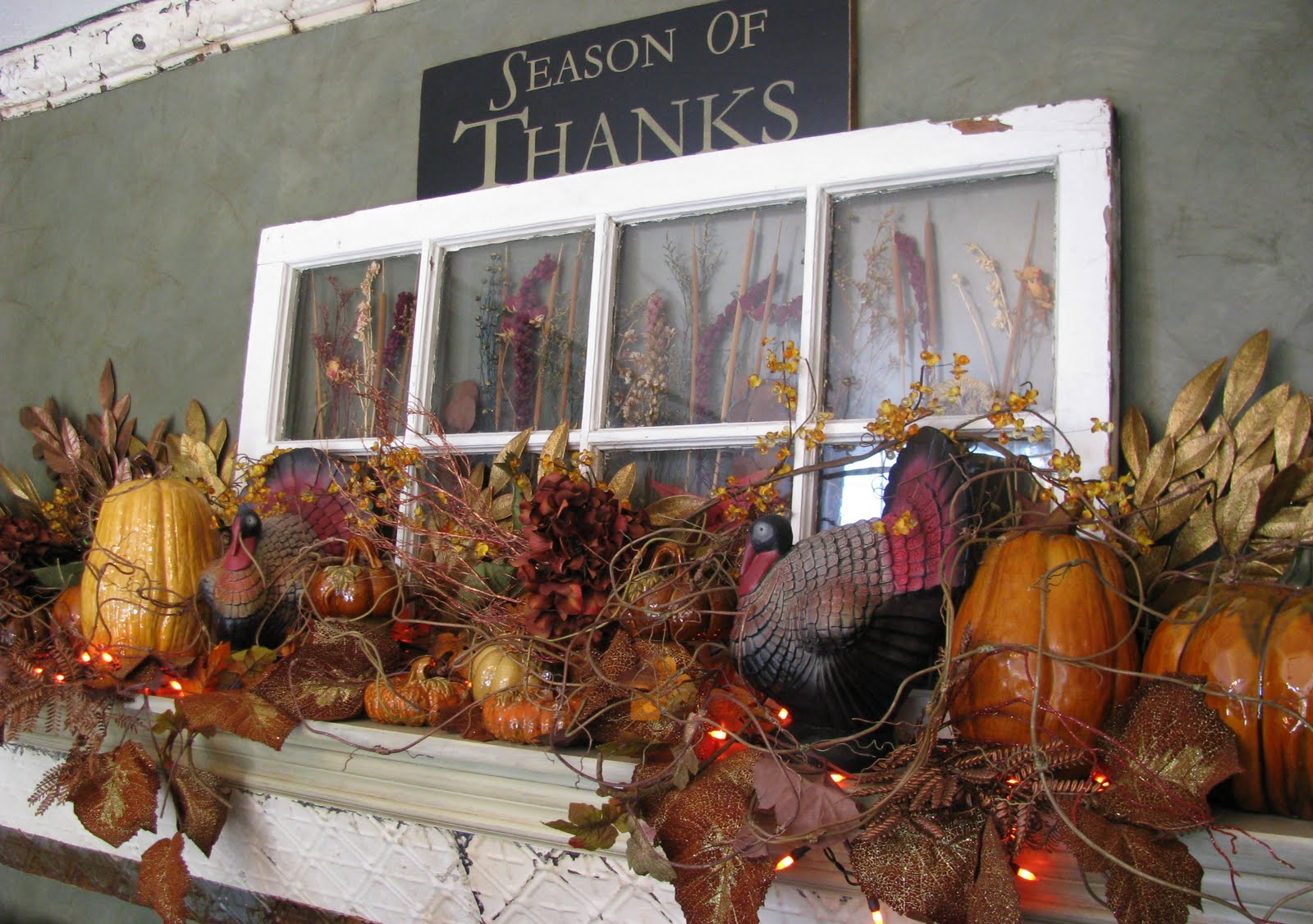 Thanksgiving decorating ideas kathy kiefer for Pictures of fall decorations for outdoors