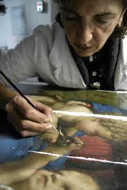 restorers image: Patrizia Riitano (for the painting)