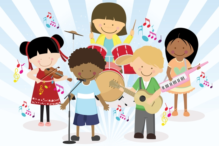 bigstock-Music-Band-Of-Four-Little-Kids-15116387