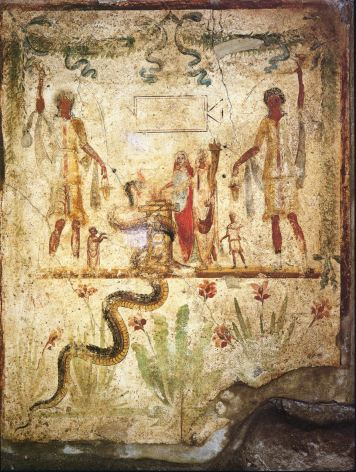 Pompei_-_House_of_Iulius_Polybius_-_Lararium