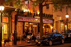 Bustling downtown historic Alexandria. O'Connell's Restaurant. Virginia Tourism Corporation, www.Virginia.org