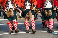Alexandria's annual Christmas Parade in Old Town, includes kennel clubs and Scottish clubs in the downtown event in December.