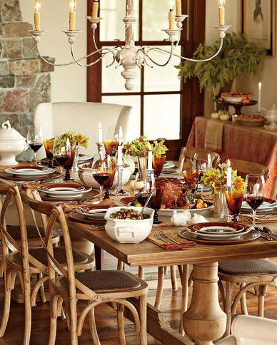Decorating and entertaining at thanksgiving kathy kiefer for Table setting design